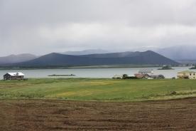 Vulcano Hverfjall e lago Myvatn