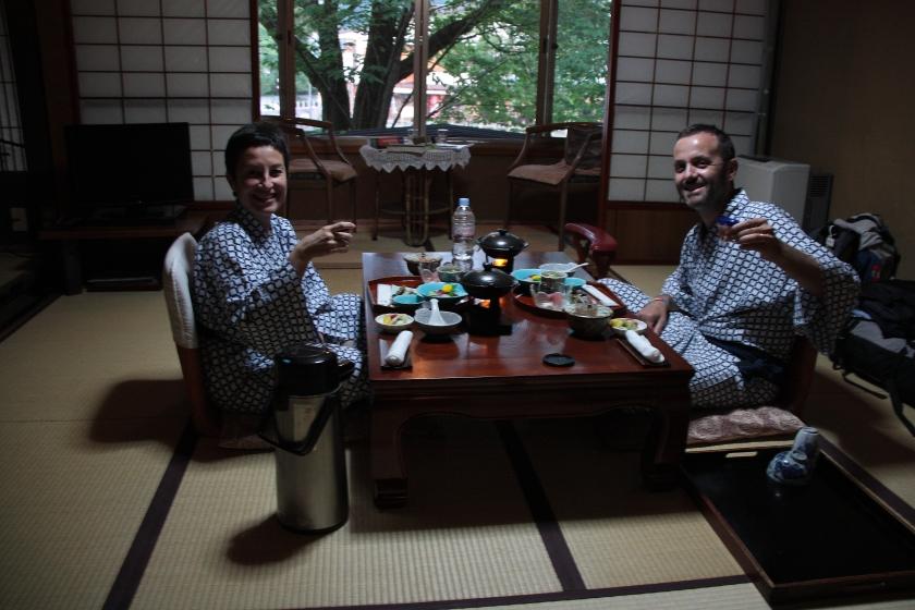 Dinner at Ryokan in Takayama