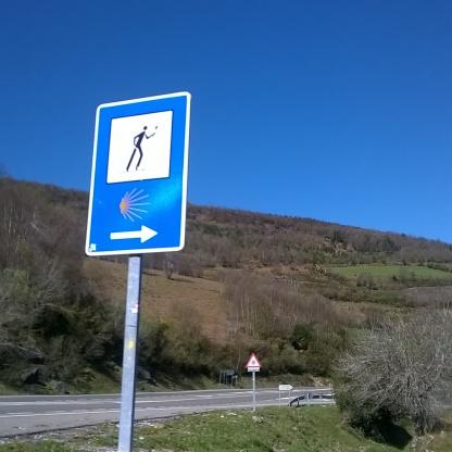 Indicazioni lungo il Cammino di Santiago de Compostela