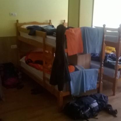 Alojamiento en un dormitorio en el Camino de Santiago de Compostela