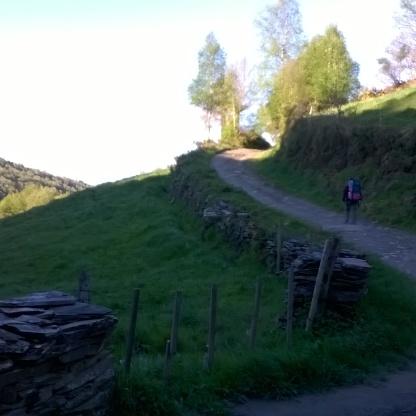 Ruta de acceso de la carretera a Santiago de Compostela