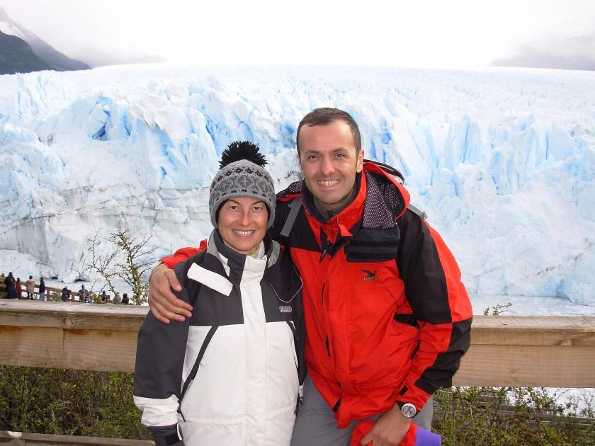Il fronte del ghiacciaio Perito Moreno