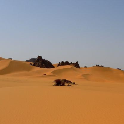 Dune di sabbia e rocce dell' Akakus Libico