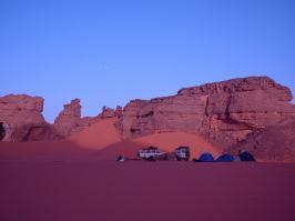 Accampamento per la notte nel Deserto