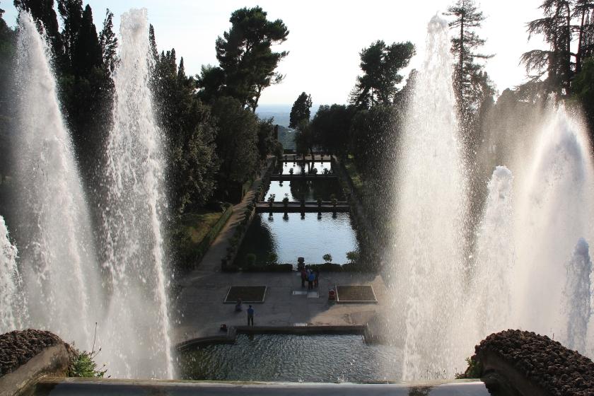 I giardini di Villa d' Este a Tivoli