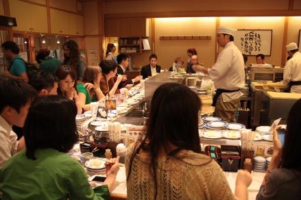 Sushi bar alla stazione dei treni di Kyoto