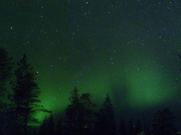 Aurora Boreale a Saariselka nella Lapponia Finlandese