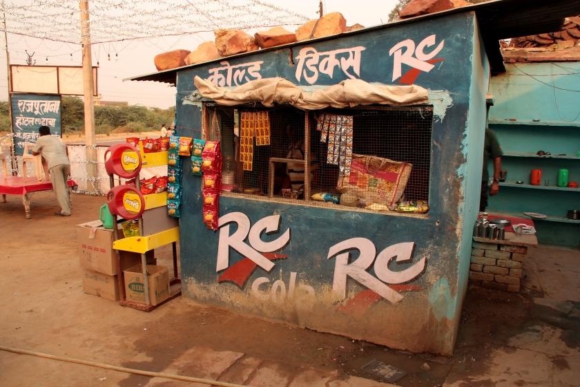 Autogrill lungo la stada in India