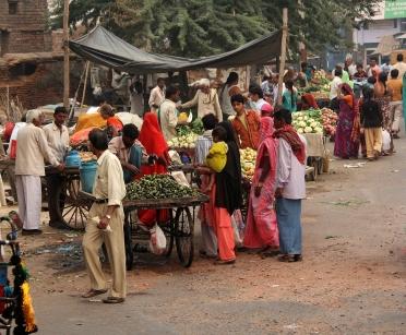 Mercato lungo la strada