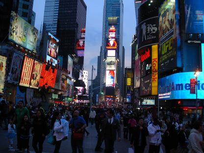 Time Square al tramonto