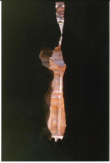Desfiladero de Siq en Petra