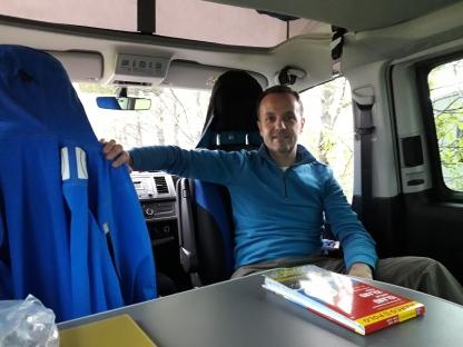 Interno del Camper Van