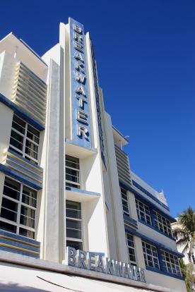 Edifici art decò in Ocean Drive Miami