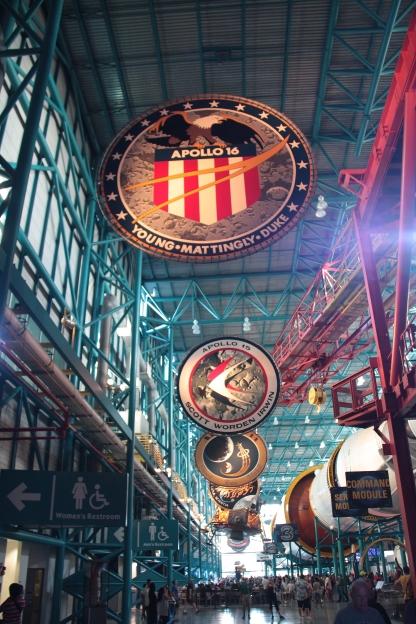 Hangar con modulo Apollo presso la Nasa
