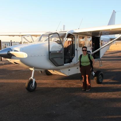 In volo sopra il delta dell' Okavango