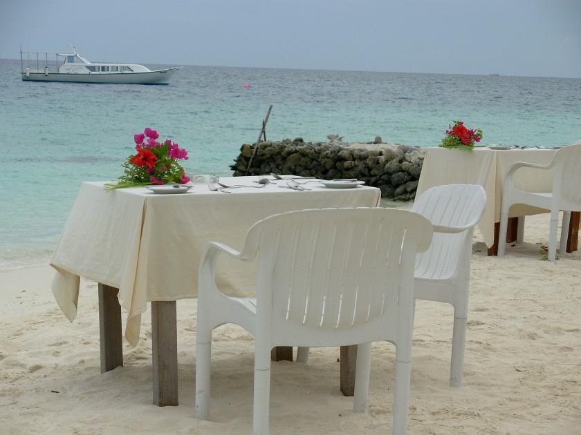 ristorante in spiaggia
