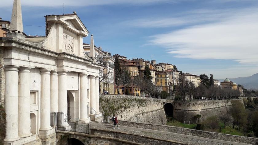 Bergamo las paredes veneciano.