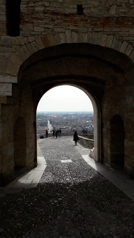 vista desde el puerto de Bérgamo