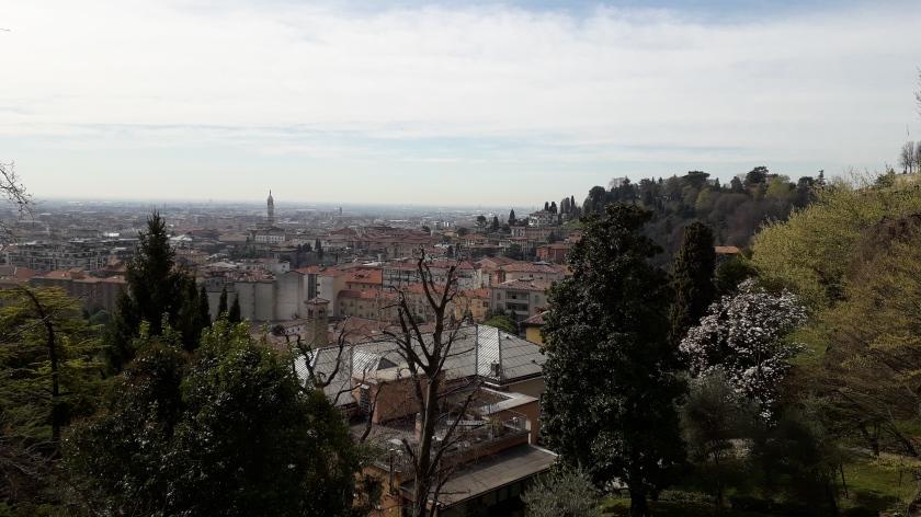 Bergamo vista de las paredes venecianas
