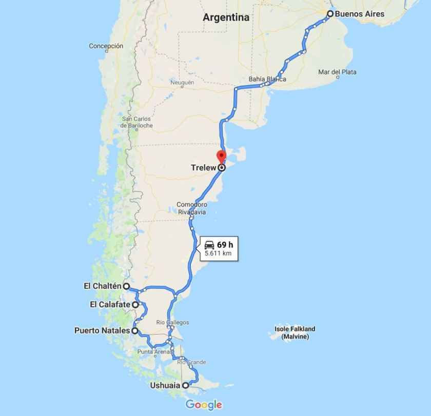 Percorso Argentina Patagonia
