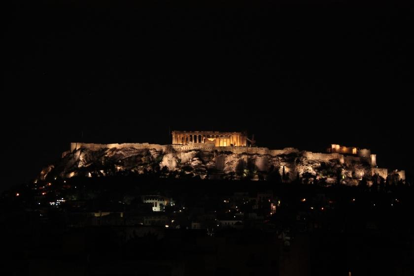 Atene vista notturna dell' Acropoli