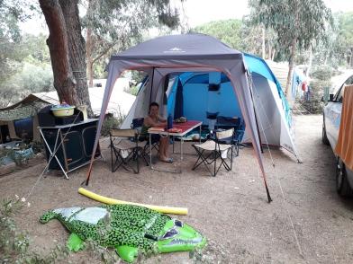 La nostra tenda al campeggio Le Bodri