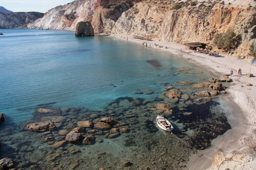 Mare cristallino a Milos