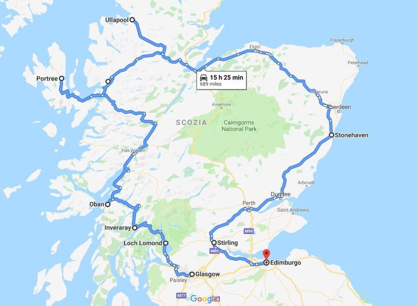 Percorso Scozia