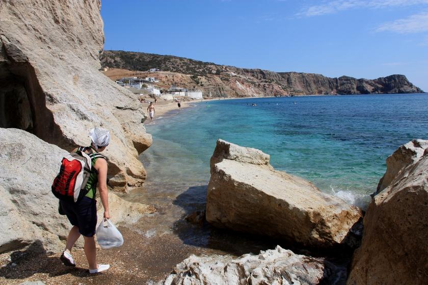 Spiaggia a Milos