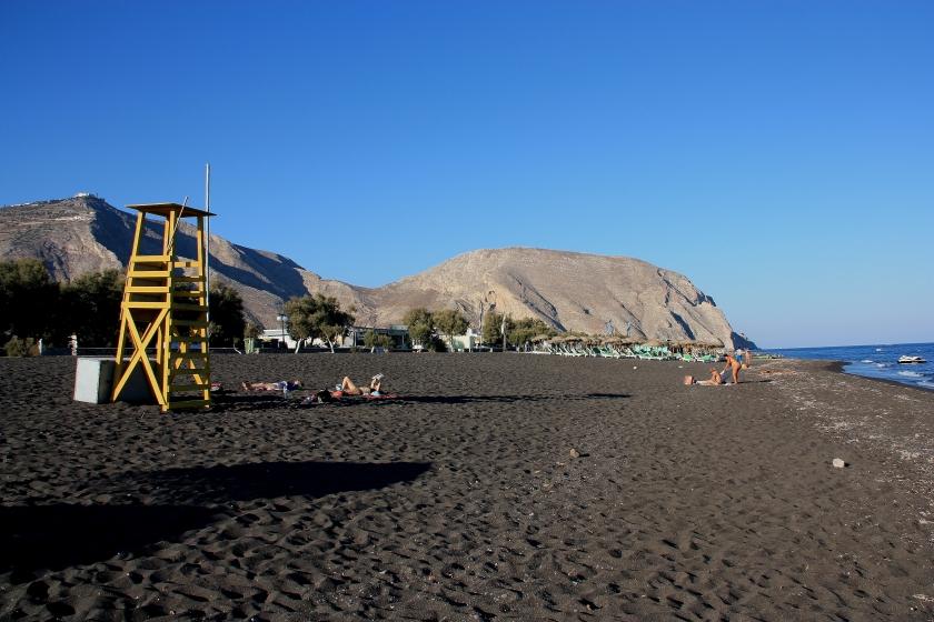 Spiaggia nera a Santorini
