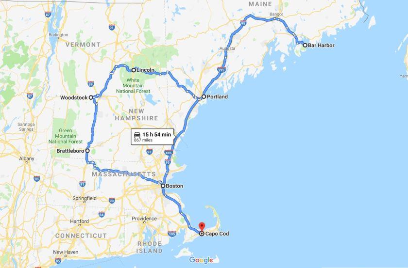 Itinerario New England