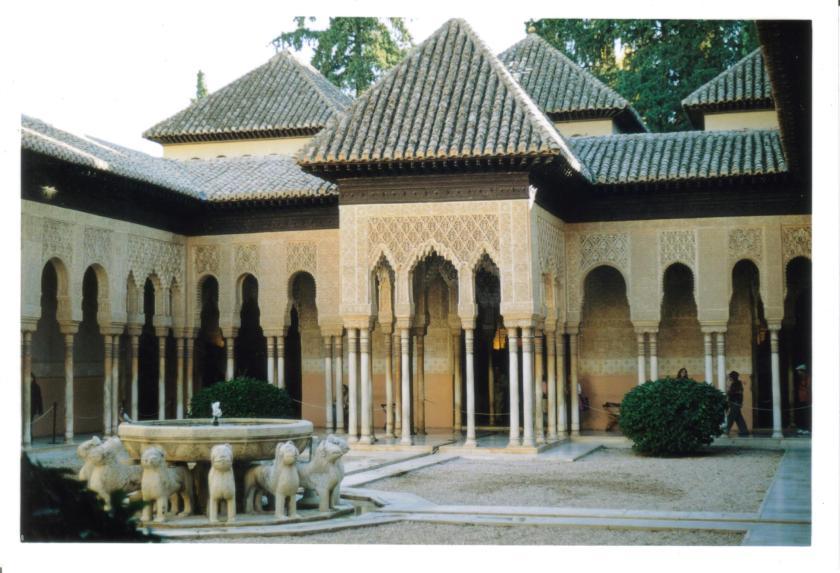 Patio dei leoni Palazzo Nazzaries Alhambra Granada