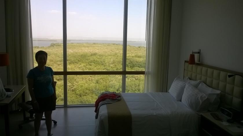 Vista dall' albergo a Cartagena