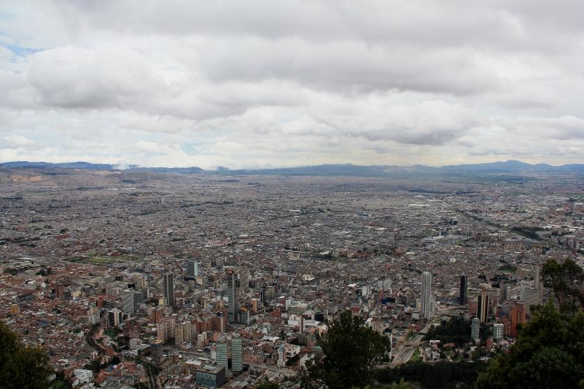 Vista di Bogotà da Monserrate