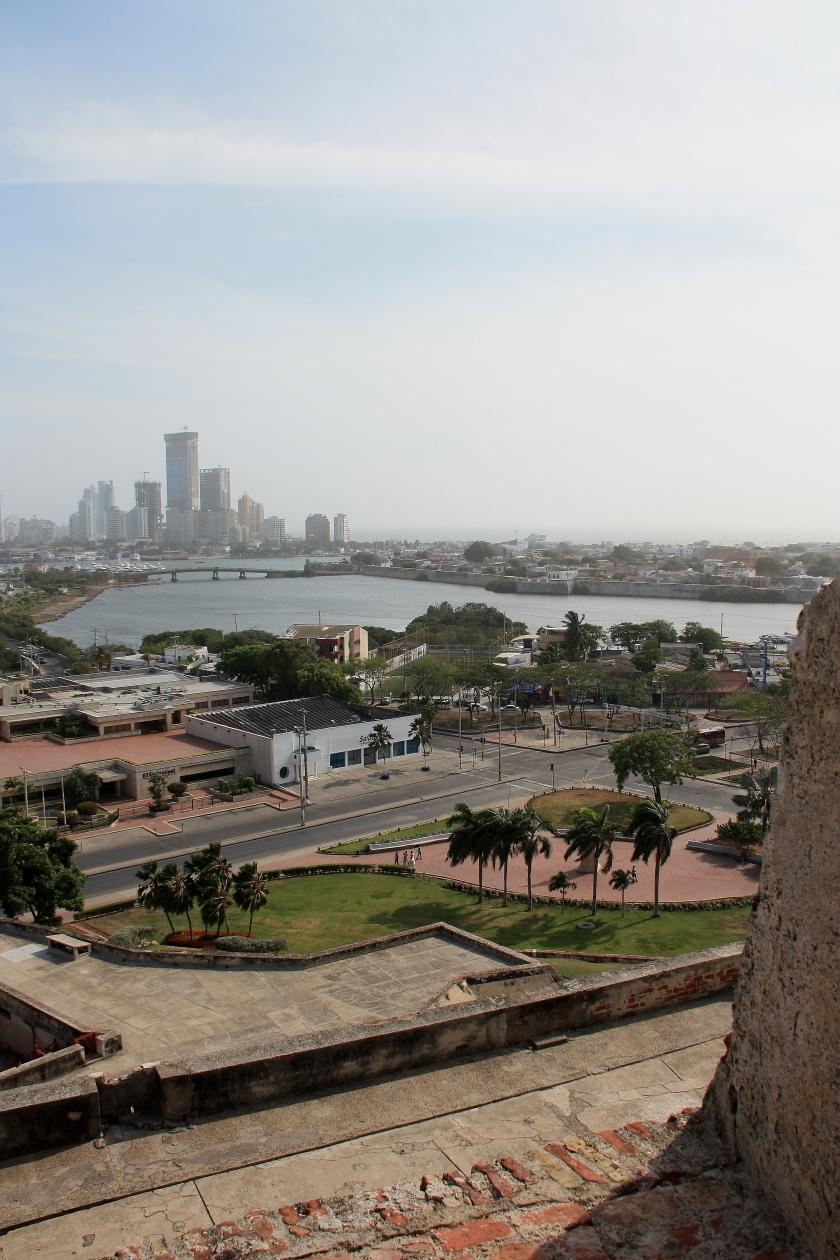 Vista di Cartagena dal Castello