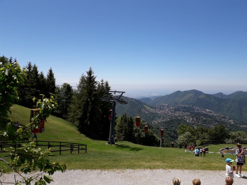 Vista sull' altopiano di Selvino