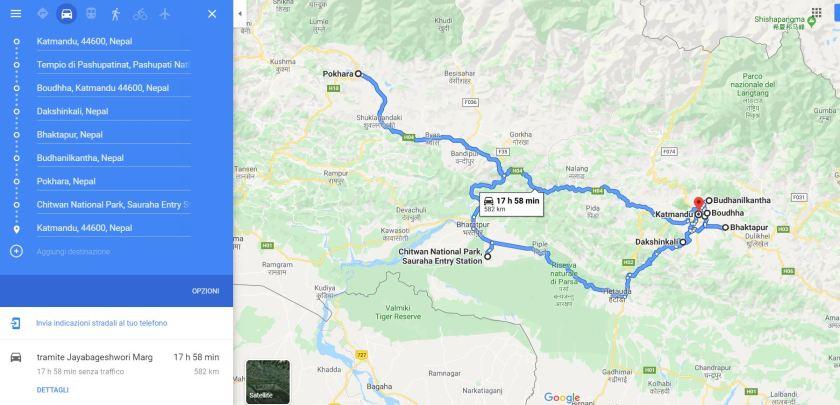 Percorso Nepal