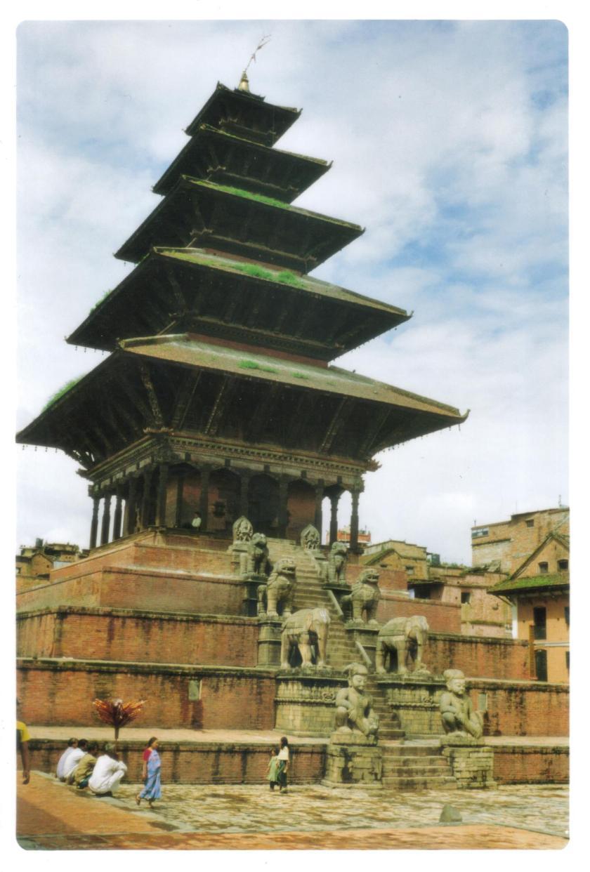 Tempio di Nyatapola a Bhaktapur
