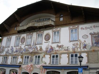 Facciata di Oberammergau