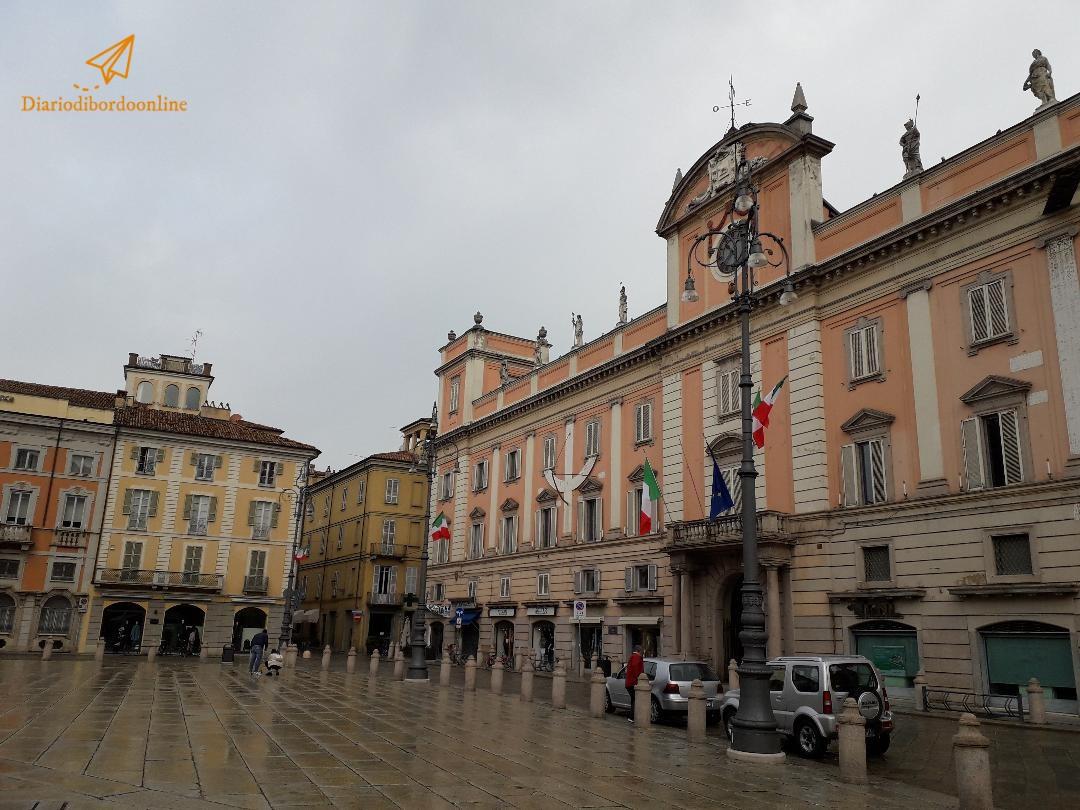 Piazza Cavalli a Piacenza
