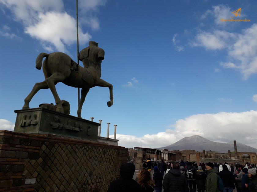 Vista del Vesuvio a Pompei