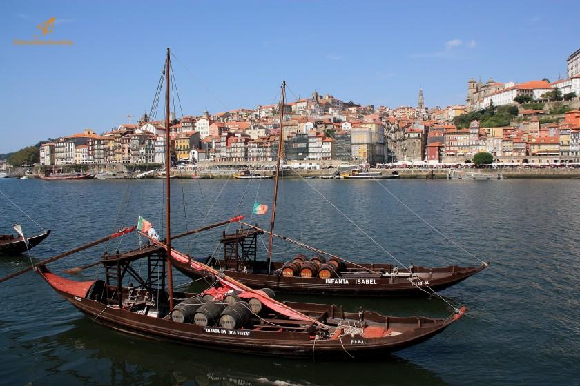 Barche per il trasporto del Porto