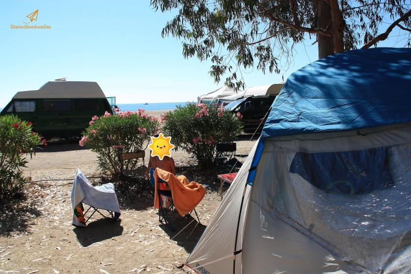 Campeggio in seconda fila