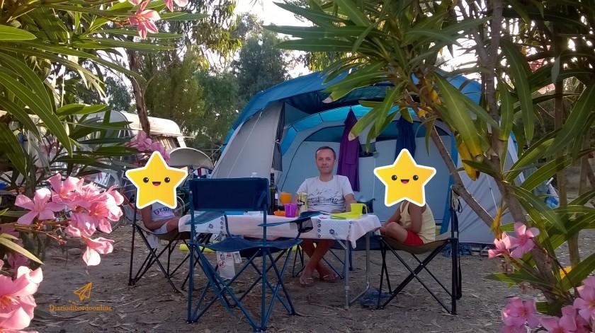 Cena in campeggio