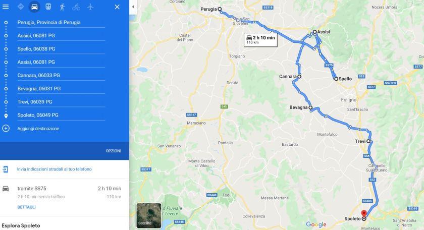 Percorso Umbria in Bici