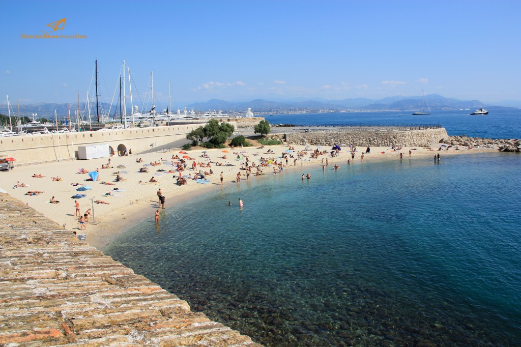 spiaggia ad Antibes