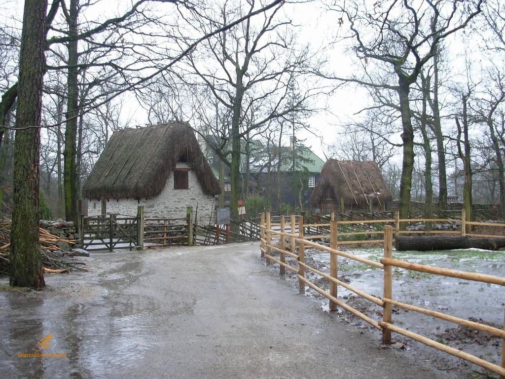 tipiche abitazioni al museo Skansen